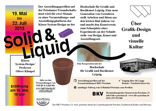 SOLID & LIQUID — A SHOW ON GRAPHIC DESIGN FROM LEIPZIG