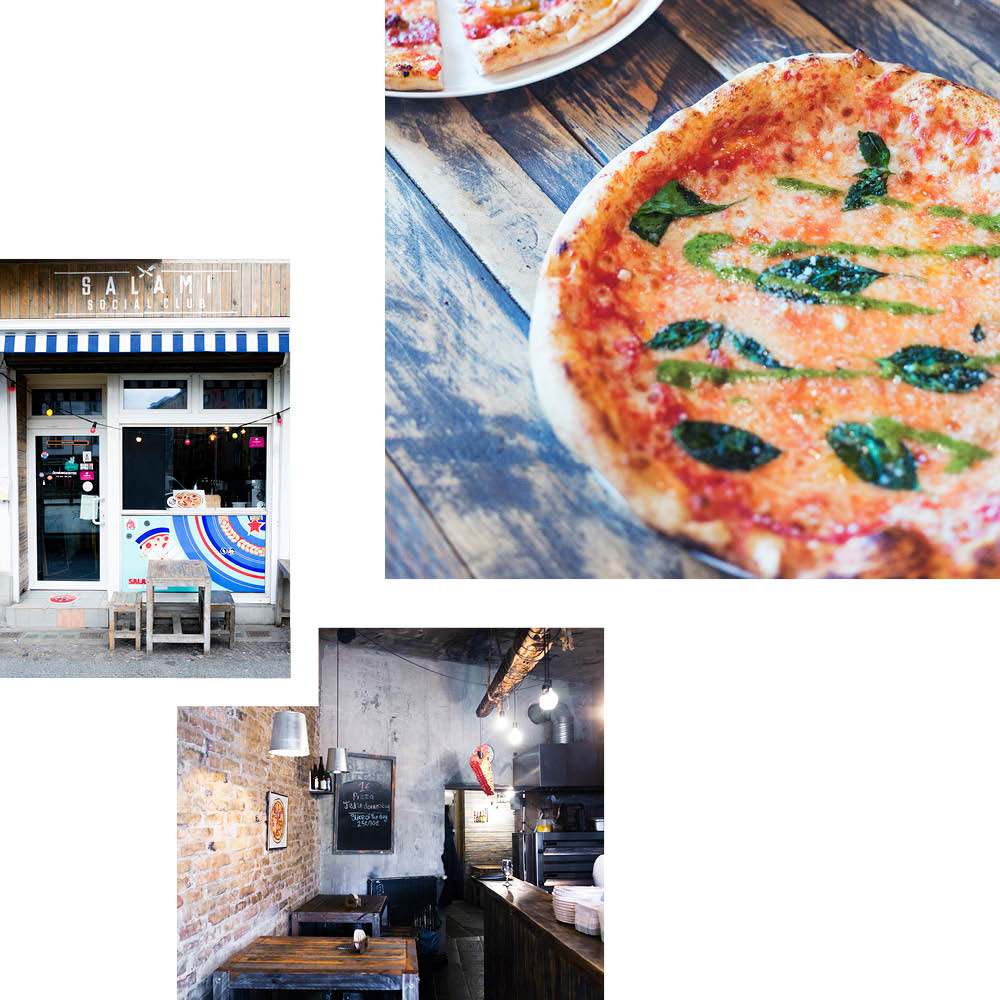 WELL-ROUNDED DIET FOR PIZZA LOVERS: SALAMI SOCIAL CLUB