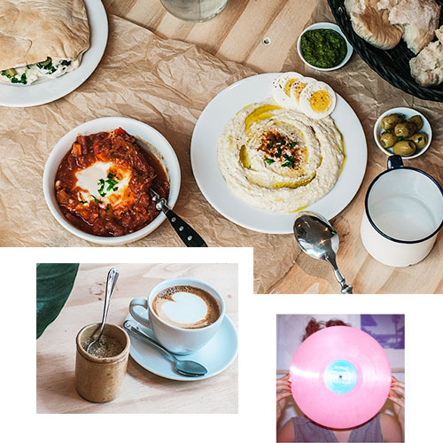 GORDON — A RECORD STORE & CAFÉ SERVING ISRAELI CUISINE