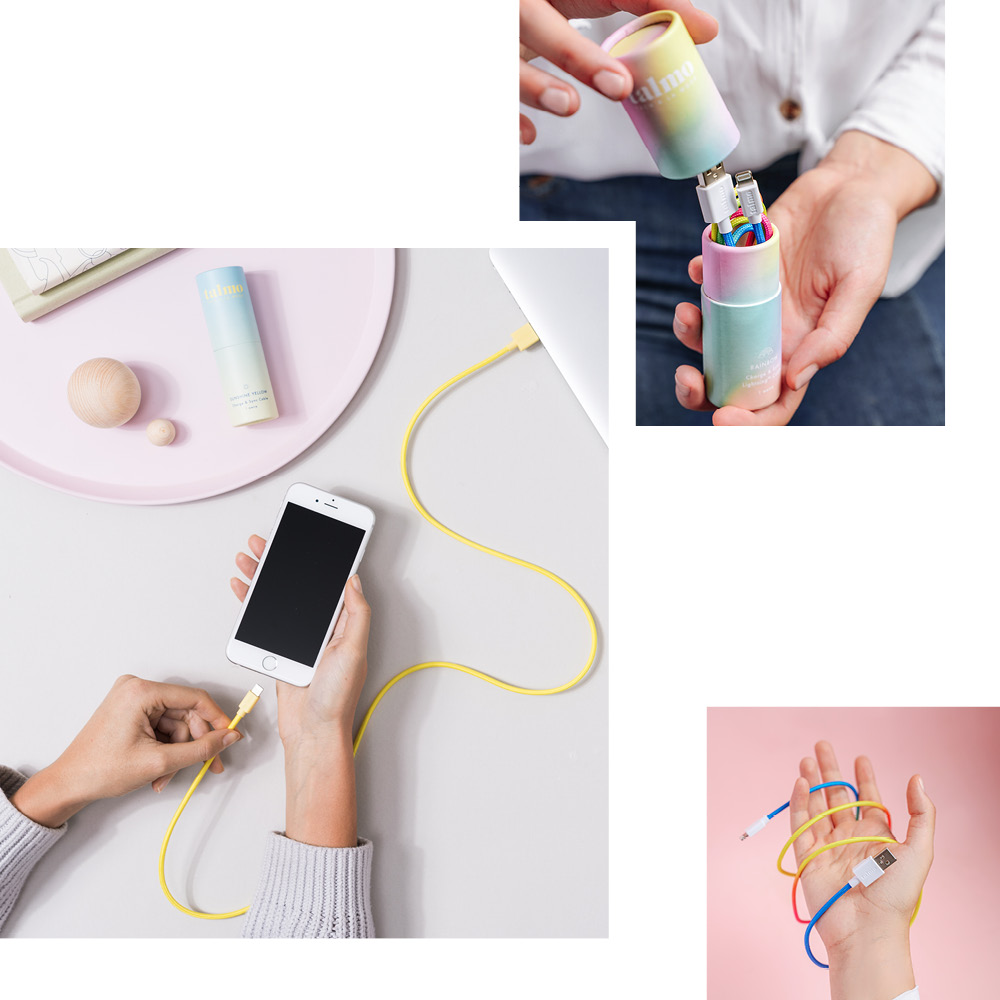 TALMO: CABLES THAT ADD COLOR TO YOUR CHARGING ROUTINE