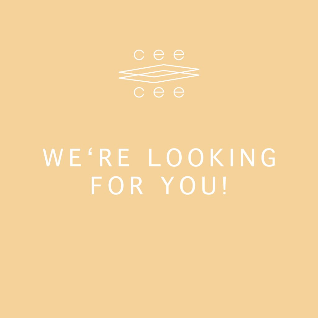 COME AND WORK WITH US — CEE CEE CREATIVE IS HIRING