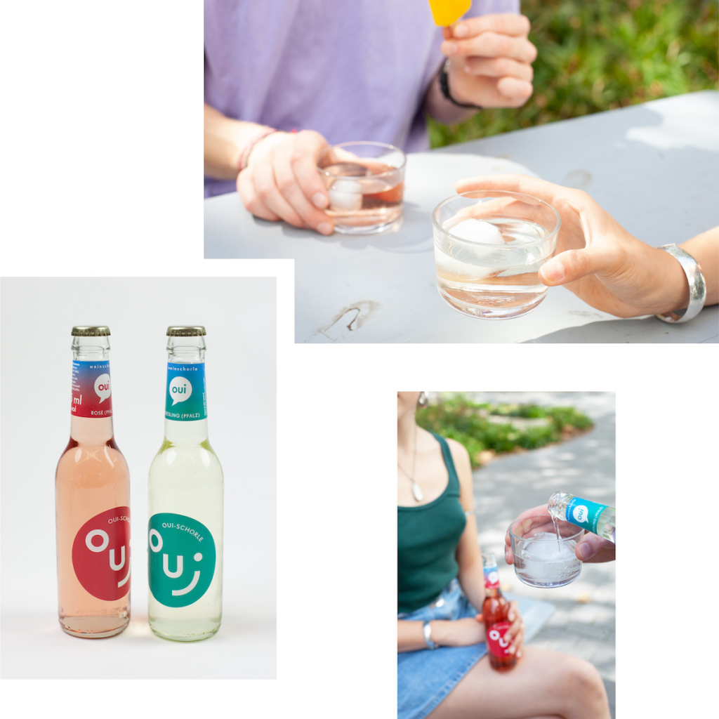 OUI-SCHORLE: BUBBLY WINE SPRITZERS FOR BALCONY DRINKS AND PARK PICNICS