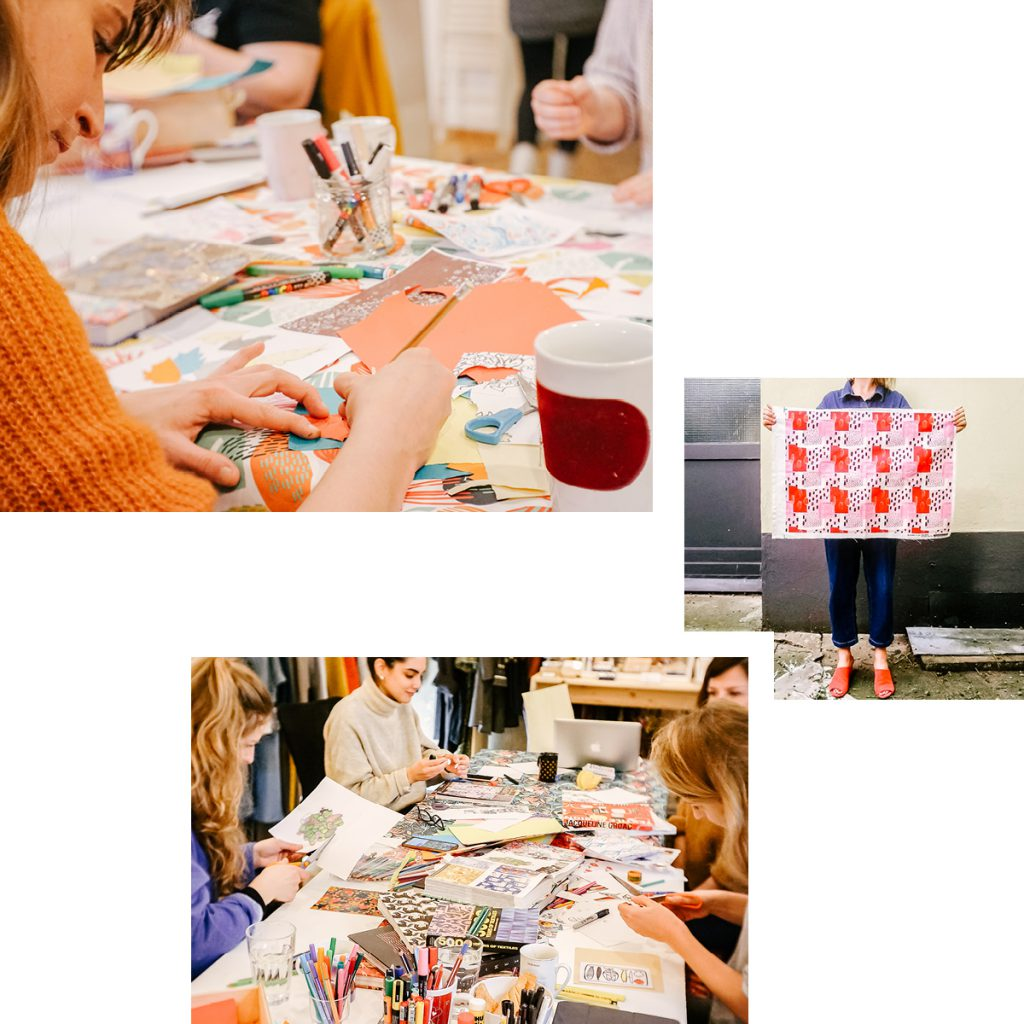 MIRJA MAUNO TEXTILE DESIGN WORKSHOPS — CREATE YOUR OWN FABRIC PATTERN AND HAVE IT PRINTED