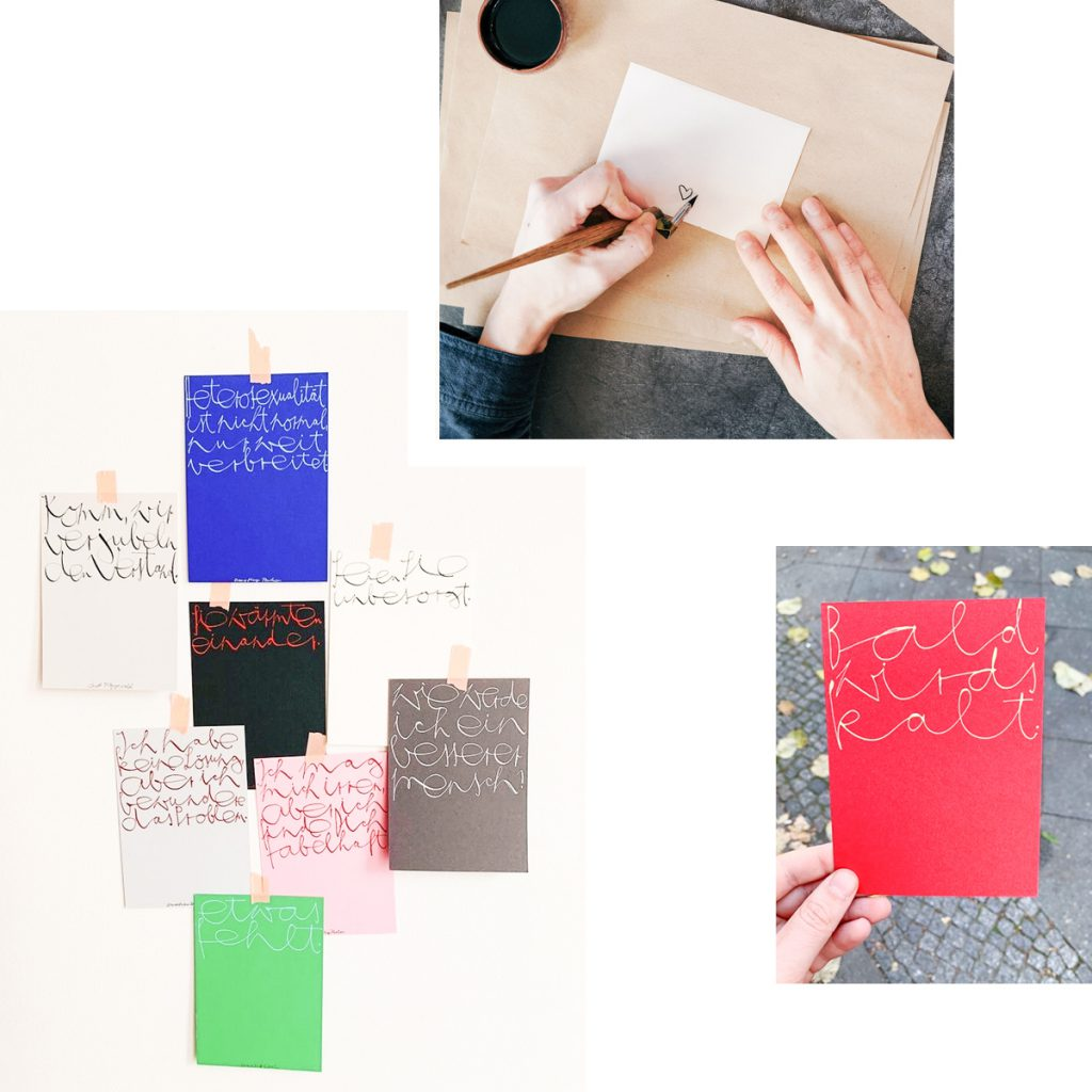 INSPIRING HANDMADE CALLIGRAPHY CARDS FOR PERSONALIZED CHRISTMAS PRESENTS — SCHÖN SCHREIBEN