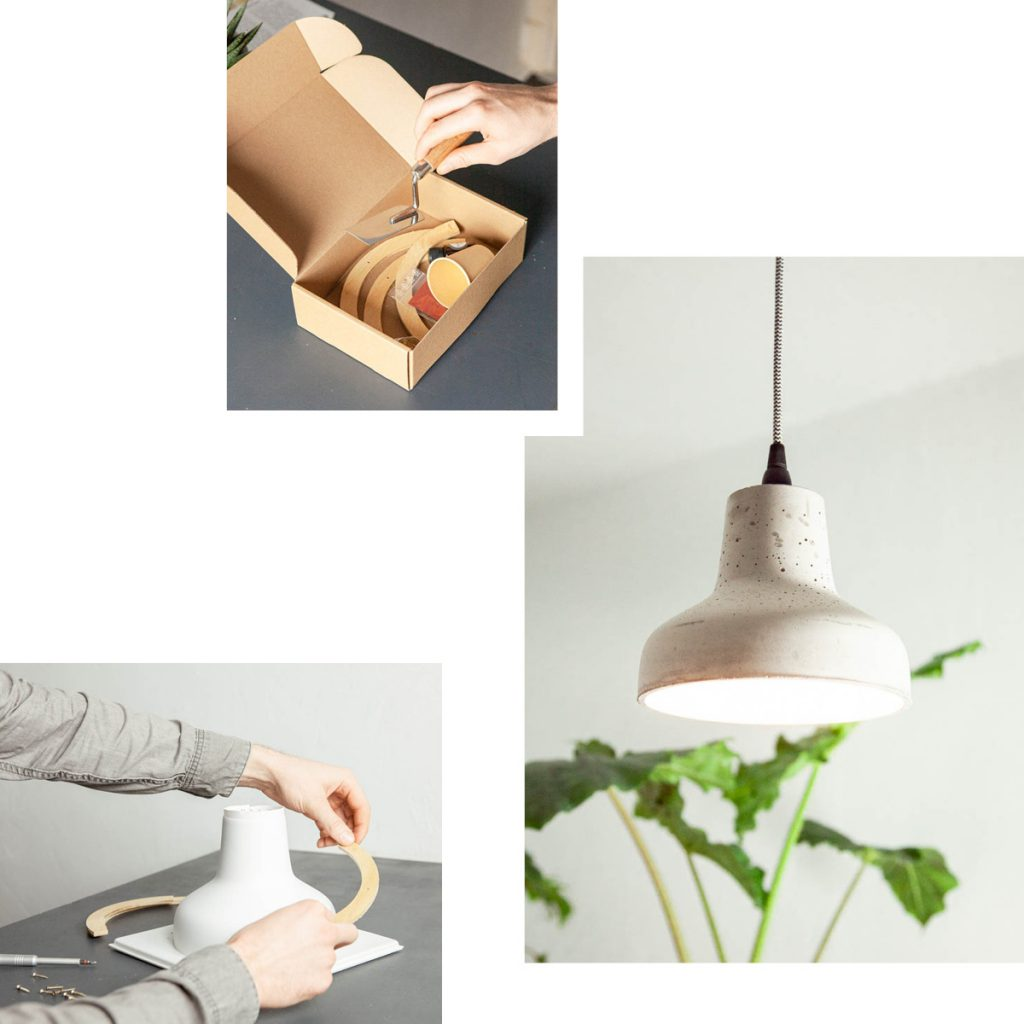 CAST YOUR OWN CONCRETE LAMP AT HOME WITH DIY KITS FROM LU INTERIOR AND BETONWERKSTATT