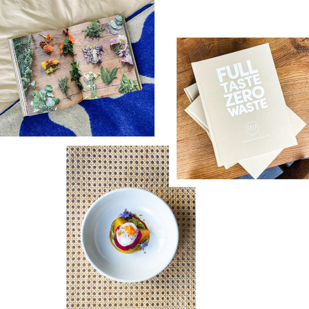 FULL TASTE ZERO WASTE — THE BOOK FROM FREA RESTAURANT WITH SUSTAINABLE STORIES AND RECIPES TO MAKE AT HOME