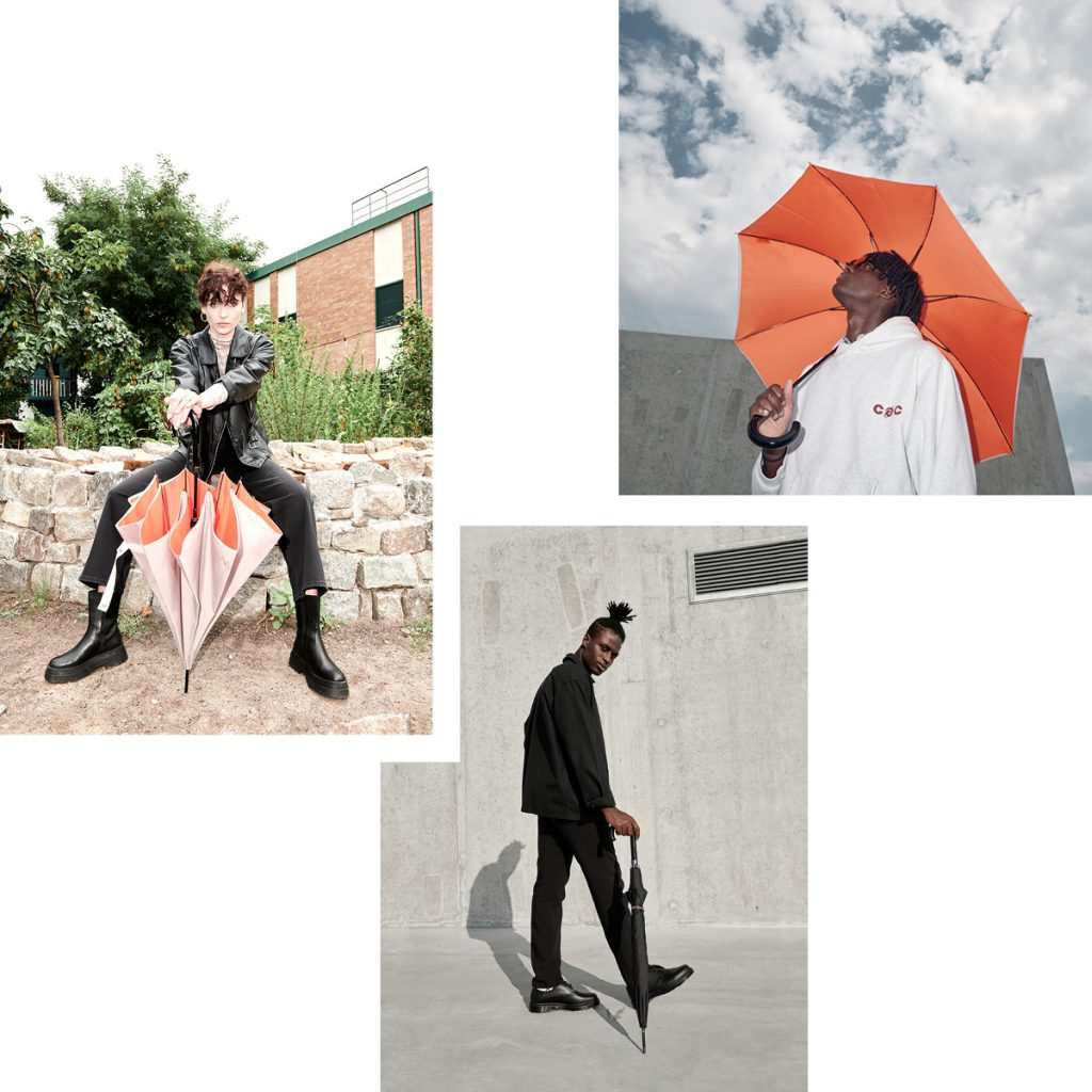 STUDIO WETTER — READY FOR SPRING SHOWERS WITH SUSTAINABLE UMBRELLAS