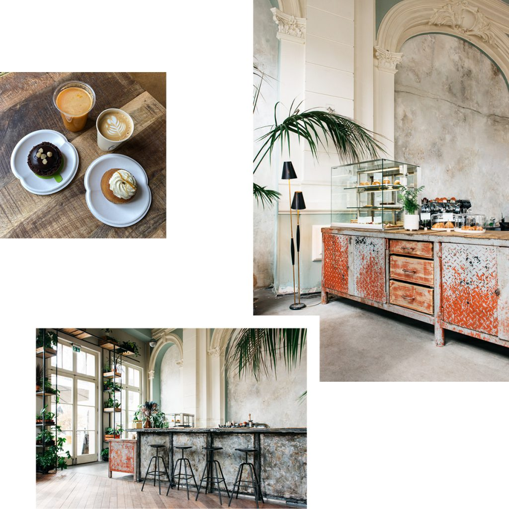 FRANK — CAFE FOR CREATIVE CUISINE FROM AROUND THE WORLD AVAILABLE TO PICK UP IN STRIKING SURROUNDINGS